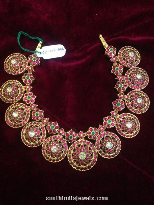 Gold Antique Ruby Necklace Design | Indian Jewelry ...