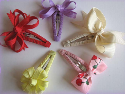 """Purple lined Butterfly snap clip 3/"""" DIY hair bow supplies"""