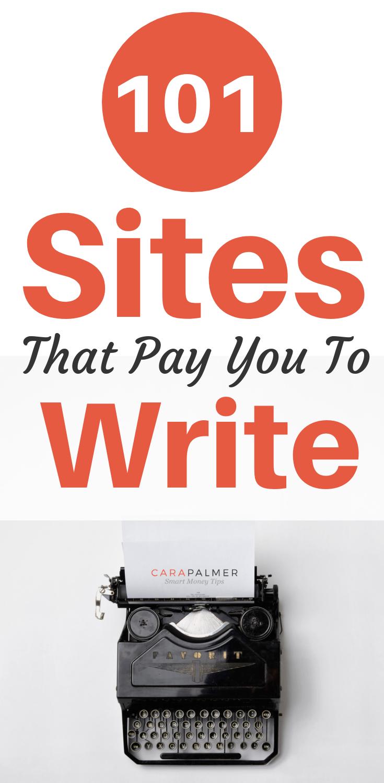 paid to write sites
