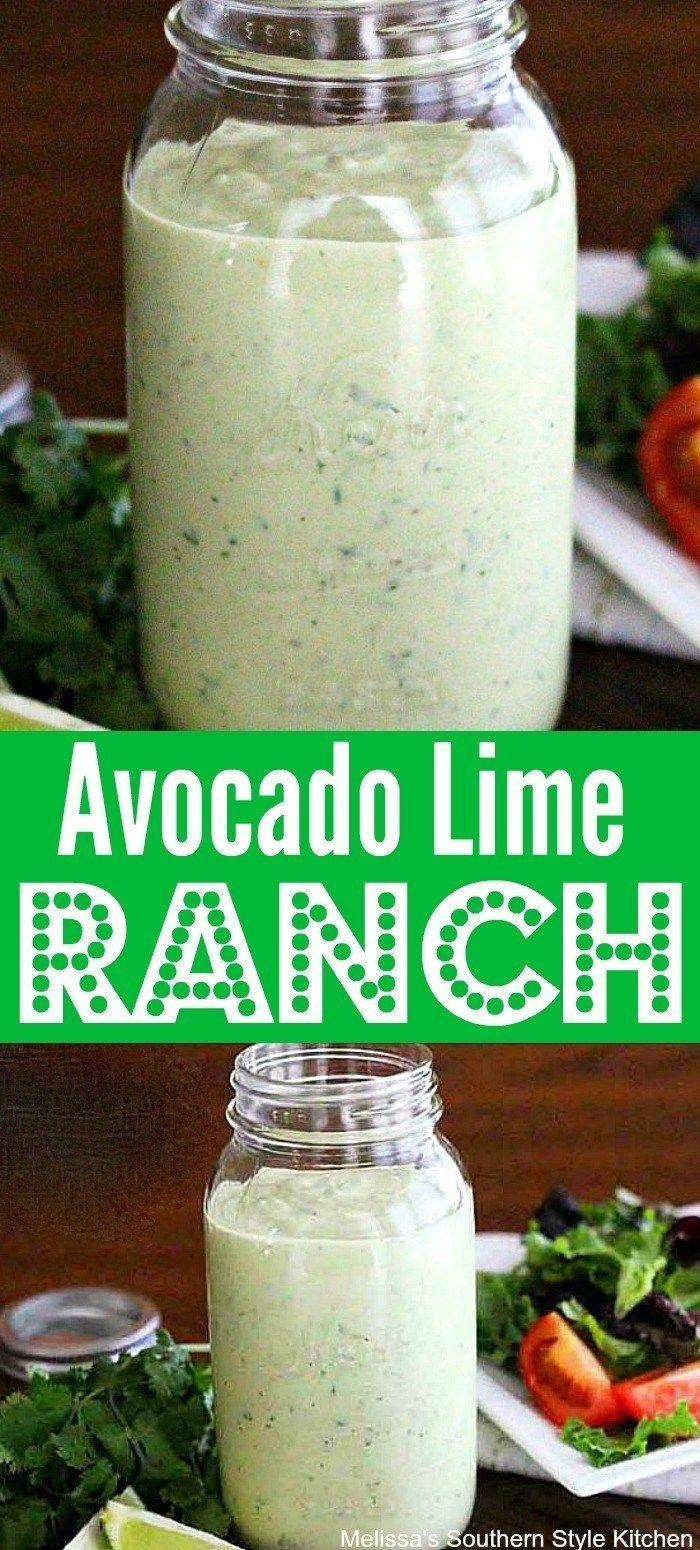 Homemade Avocado Lime Ranch Dressing Homemade Avocado Lime Ranch Dressing