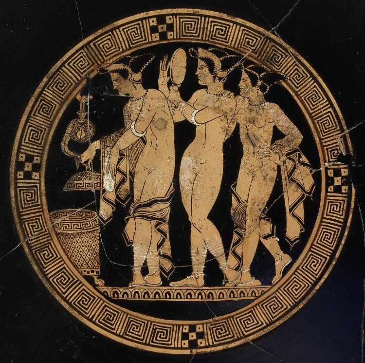 Etruscan Grecian And Roman Wedding Ideas: Pottery: Red-figured Cup (kylix). Etruscan 350BC-300BC