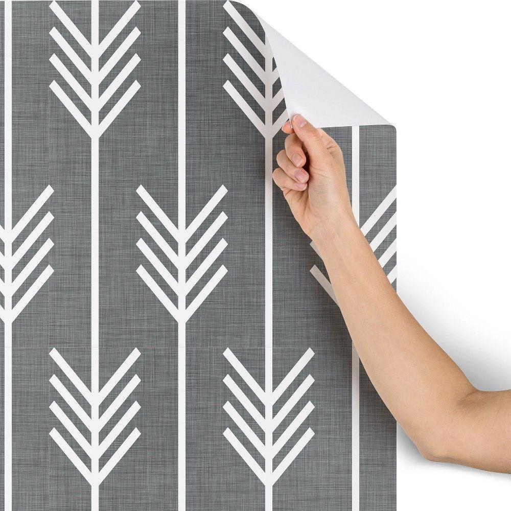 2 X4 Holli Zollinger Arrows Gray Wallpaper Gray Deny Designs Grey Wallpaper Deny Designs Paintable Wallpaper