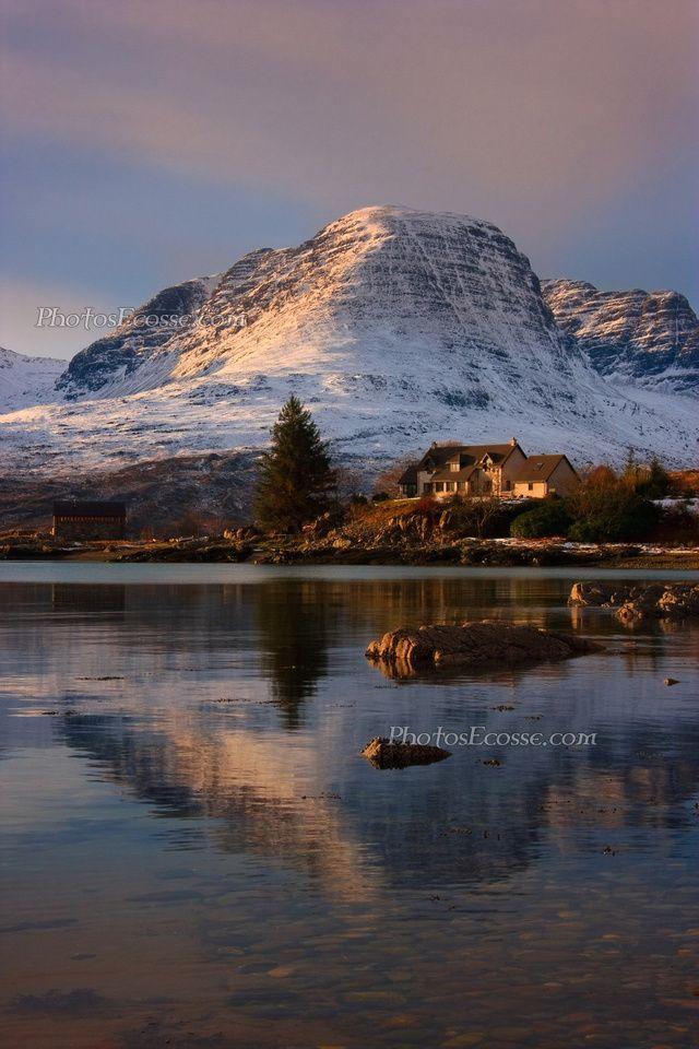 Applecross Mountains , Winter reflection, North West Scotland.