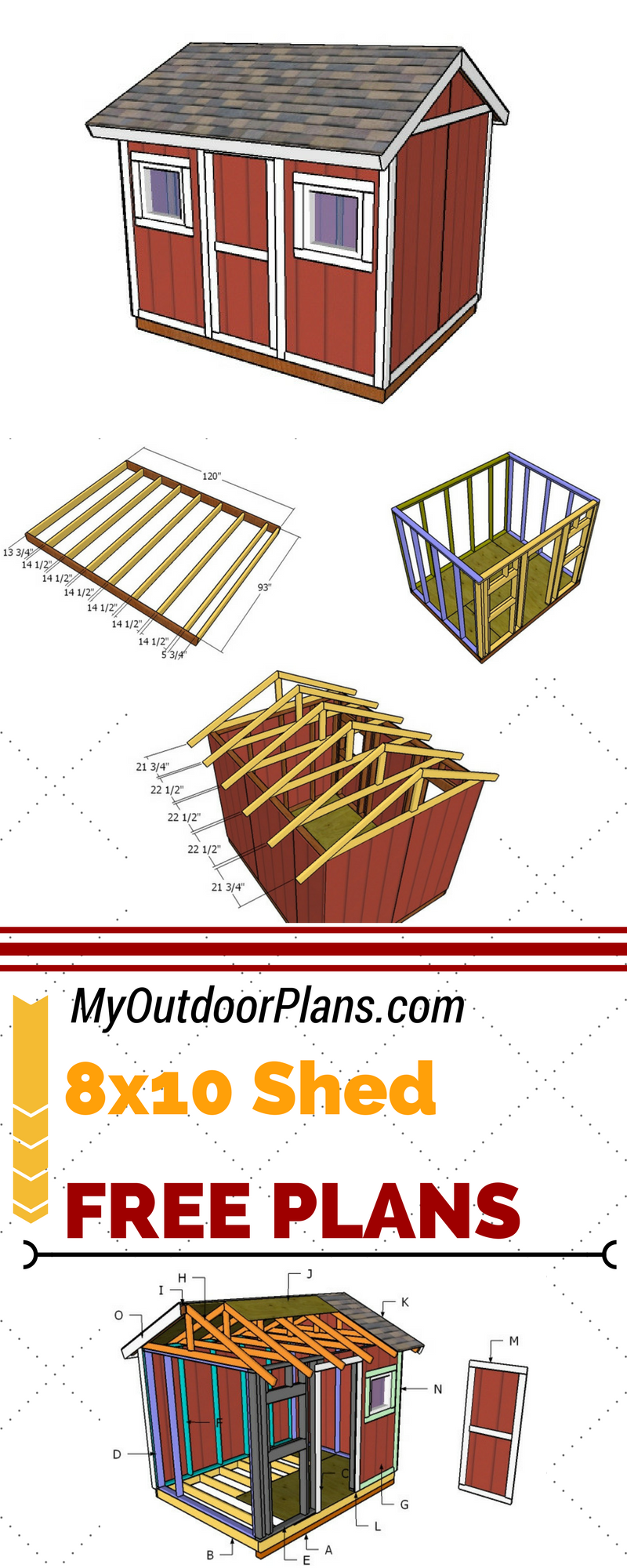 Check Out Free 8x10 Shed Plans For You To Build Storage Space In Your Garden Follow My Step By Step Free 8x10 8x10 Shed Diy Shed Plans Diy Storage Shed Plans