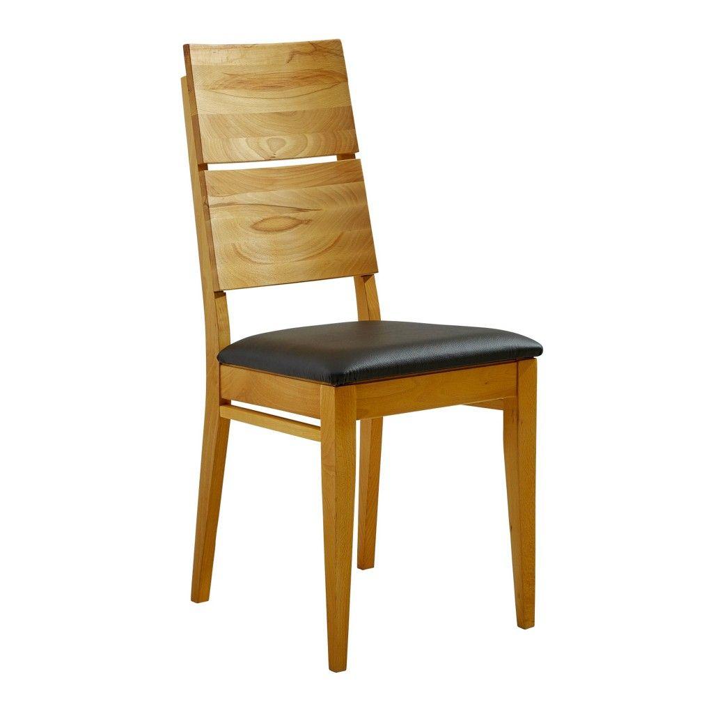 Schön STUHL In Holz, Leder Braun, Buchefarben   Stühle   Esszimmer   Wohn  U0026  Esszimmer   Produkte