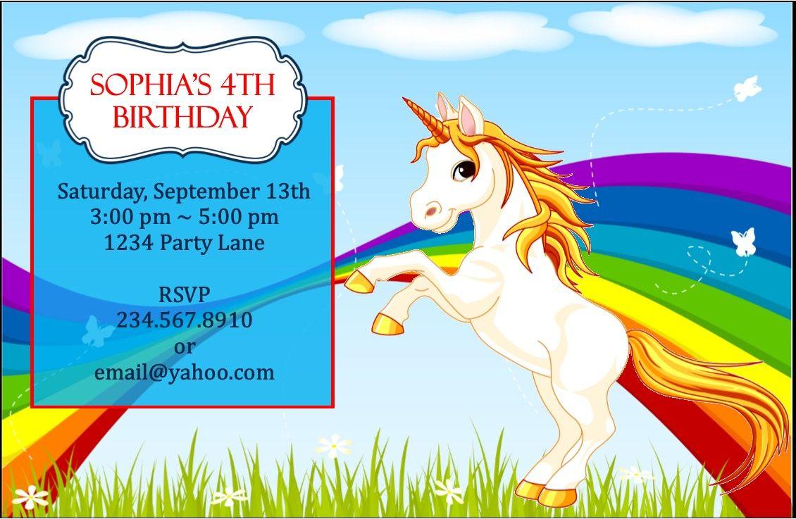 Rainbow and Unicorn Party Game Ideas Unicorn party