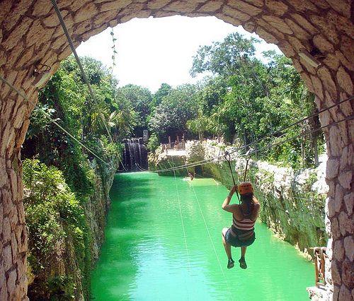 Xplor Zip Line Water Landing Cancun Trip Mexico Vacation Playa Del Carmen