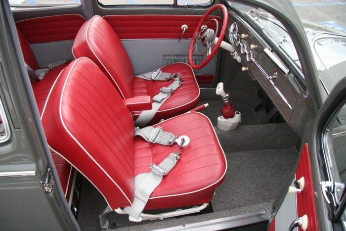 Interior seat belts red and grey volkswagen pinterest - Auto interior restoration products ...