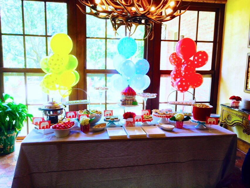 Circus themed baby shower Baby shower themes, Shower