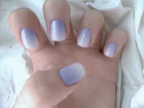 i just love ombre nails | hair and nails | Nails, Purple ...
