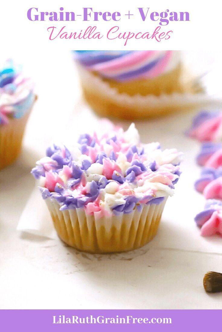 Grain Free Vanilla Cupcakes