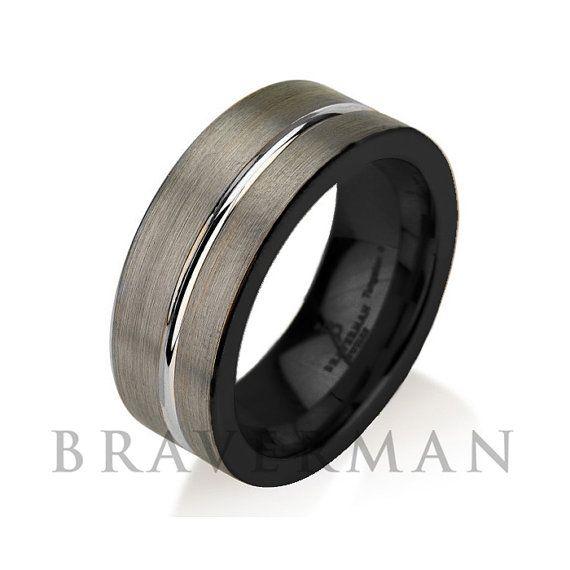 Pin On Black Tungsten Wedding Bands