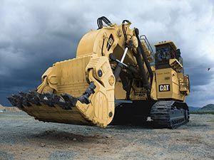 The Largest Machines In Mining With Images Caterpillar Equipment Heavy Equipment Cat Excavator