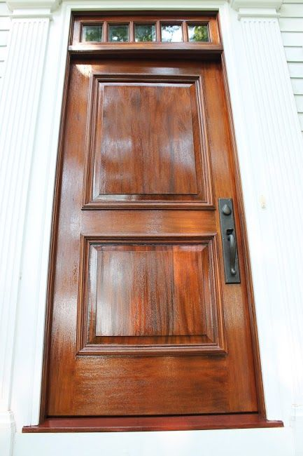 Pin By Hague S Paint Decorating On Sikkens Wood Finishes Stained Front Door Mahogany Wood Doors Mahogany Front Door