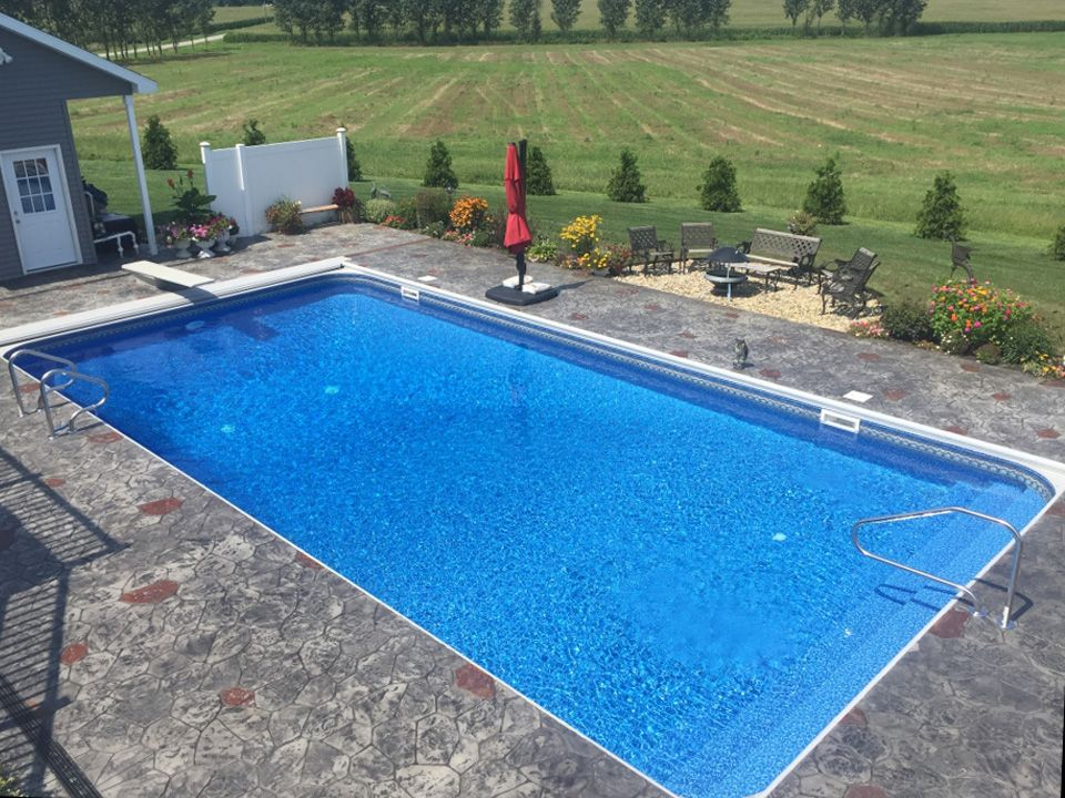 16 x 32 rectangle swimming pool kit with 42 polymer