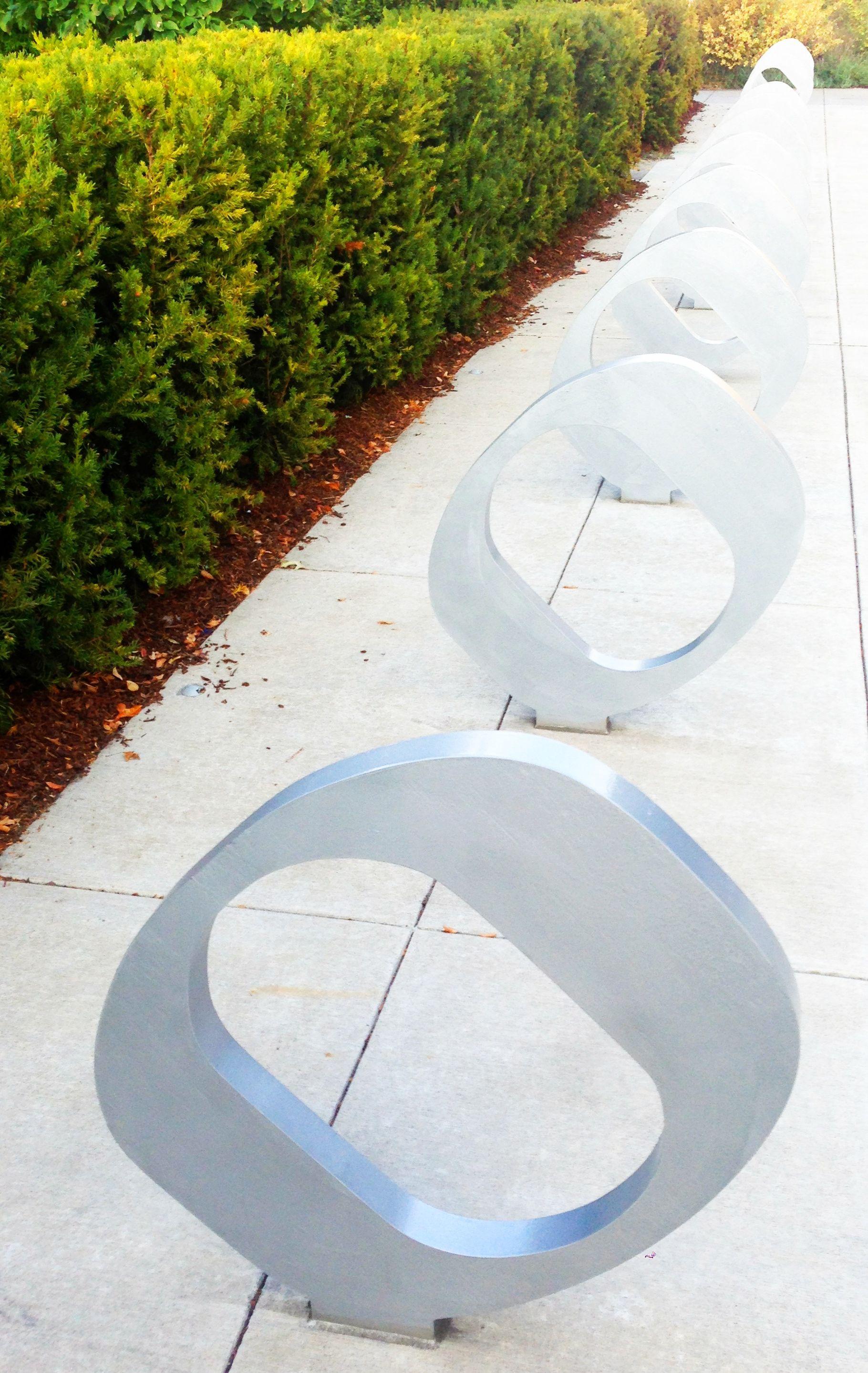 bike racks on campus  By www.russlong.com