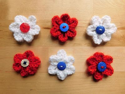 marianna's lazy daisy days: Knitted Summer Flowers ...