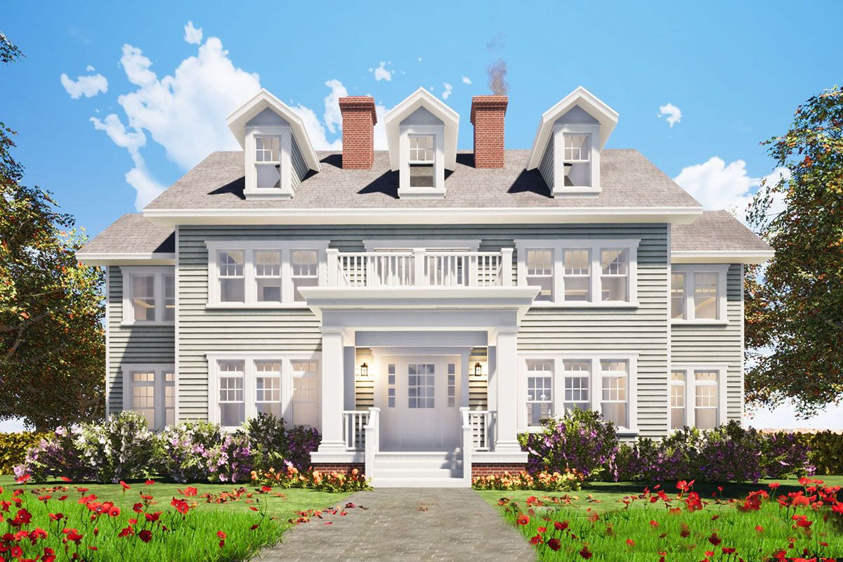 Plan 44040td For The Large Family Colonial House Colonial House Plans Large Family House Plan