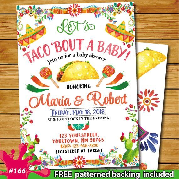 Taco Bout Baby Shower Fiesta Baby Shower Invitation
