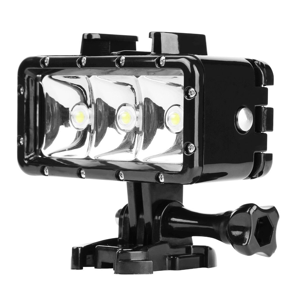 Akaso Waterproof Led Diving Light For Gopro Hero Sjcam Snorkel Light Underwater Shopee Singapore Underwater Camera Action Camera Waterproof Led