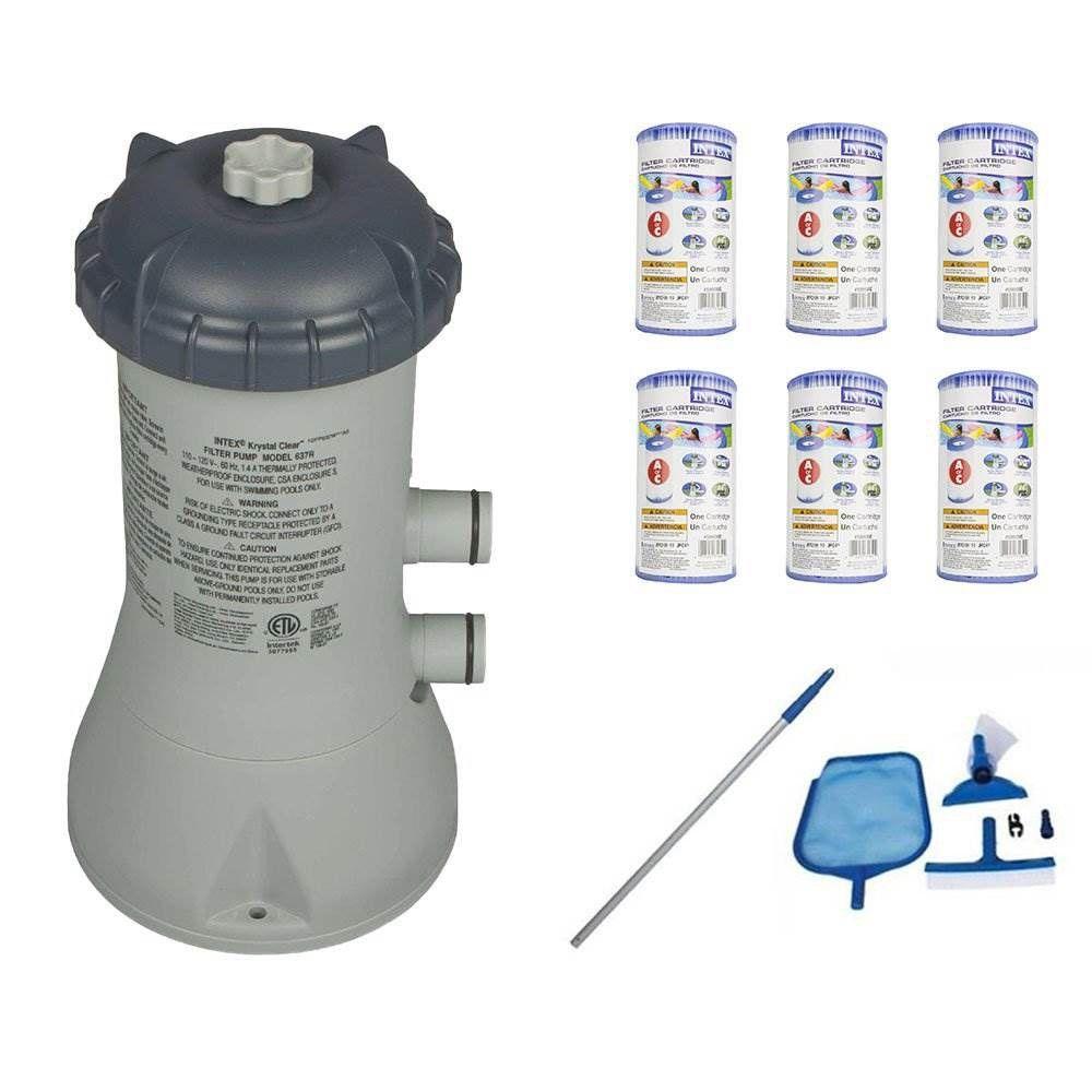 Intex Pool Pump System Wartungswerkzeuge Ersatzpatronen 6er Pack Klar 6er Ersatzpa In 2020