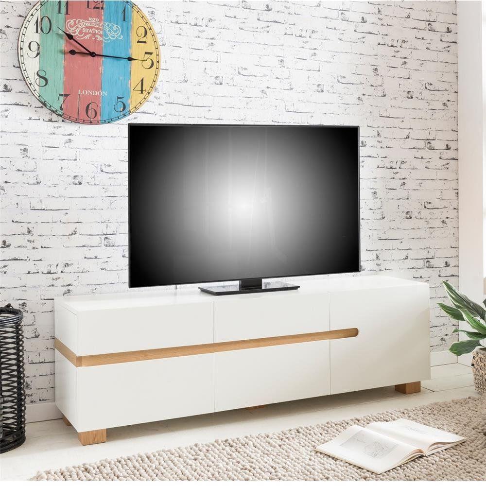 Fernsehschrank Abschliessbar Tv Lowboard Schwarz Matt Tv Tisch
