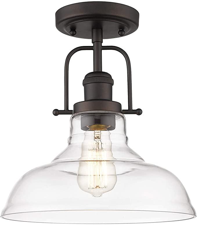 Femila Semi Flush Mount Ceiling Light Farmhouse Close To Ceilight Lighting Fixture Oil Rubbe Glass Pendant Lamp Pendant Lamp Shade Flush Mount Ceiling Lights