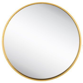 Round Gold Metal Wall Mirror Home Metal Walls Wall Wall Decor
