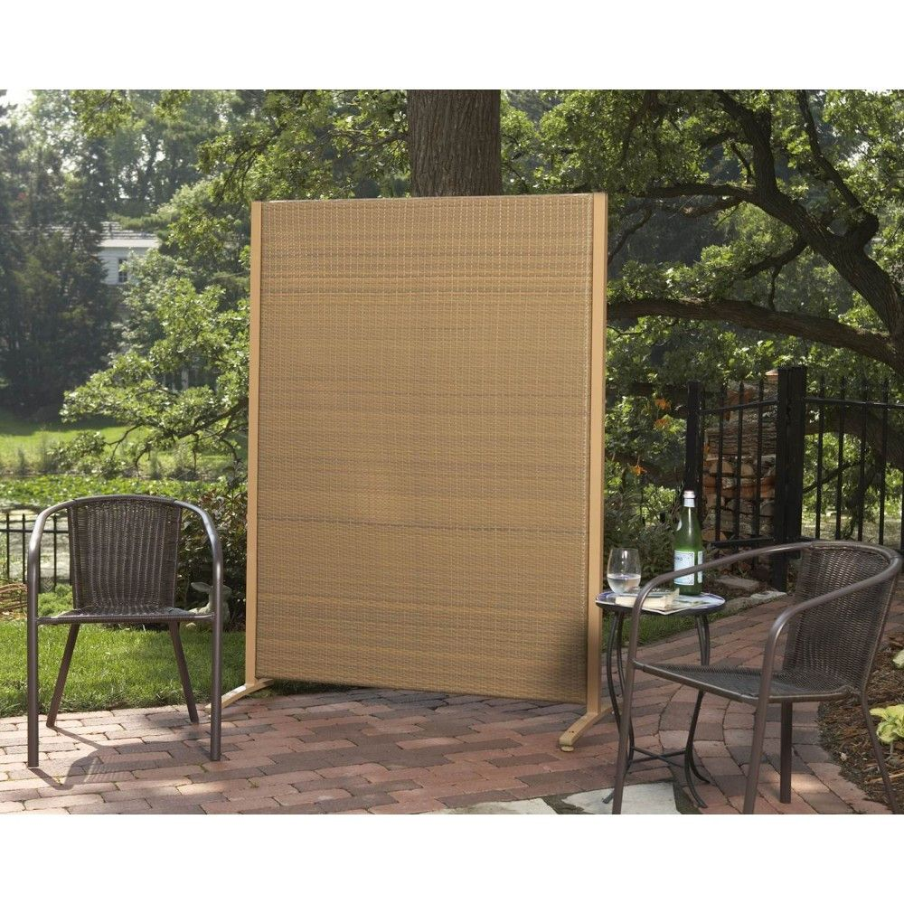 High Quality Versare Wicker Outdoor Partition Color: Tan, Size: H X W