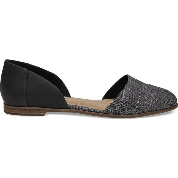 e6c3d16daeb Love these flats for spring. TOMS Jutti d Orsay Black learher  Chambray