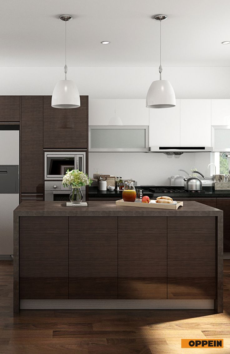 Modern Wood Veneer Kitchen Cabinet Kitchen Design Small Kitchen Design House Interior