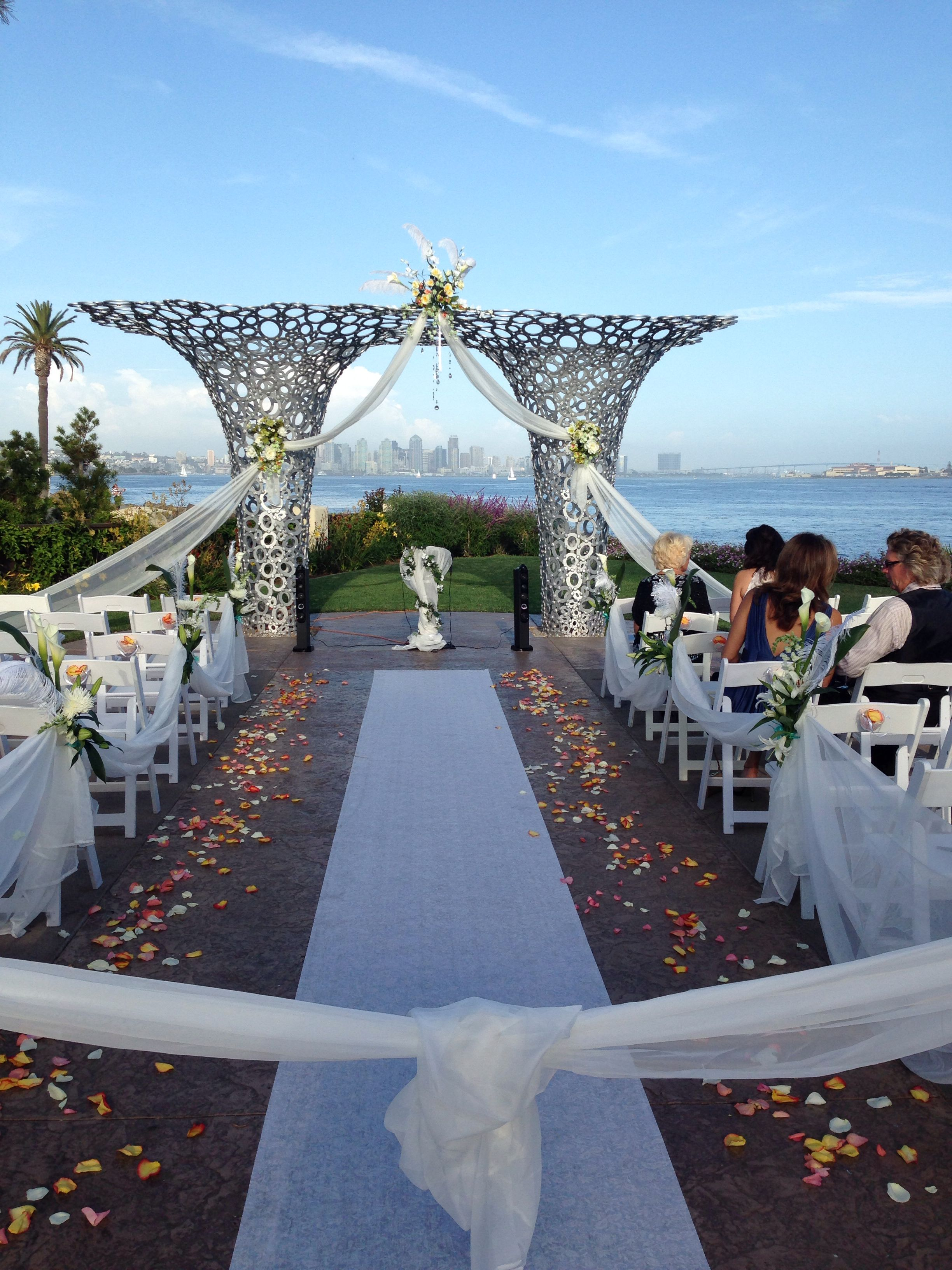 Wedding Ceremony At Tom Ham's Lighthouse I Decorated The Arch With Tule And Floral Arrangements Scrap It Designs Scrapatithotmail: Lighthouse Wedding Venue Ri At Reisefeber.org