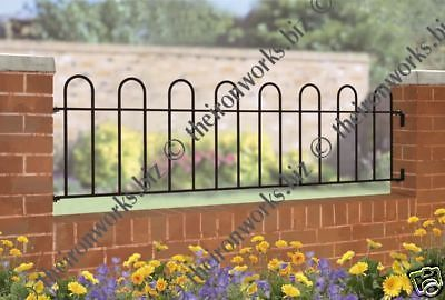 Made To Measure Solid Wrought Iron Metal Fencing Railing Panel Hoop