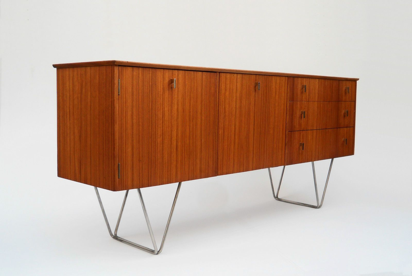 Vintage Sideboard Hairpin Legs Stunning Danish Teak Sideboard Unique Steel Hairpin Legs Wood