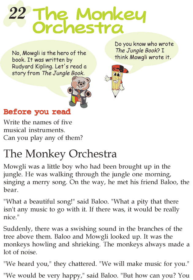 Grade 2 Reading Lesson 22 Short Stories – The Monkey Orchestra ...