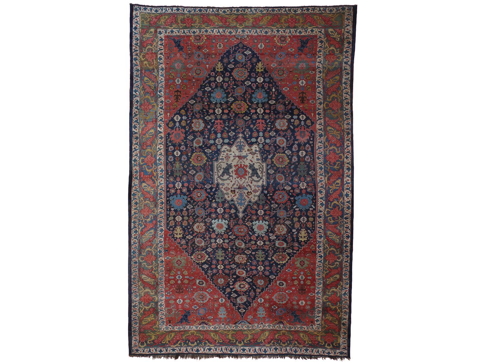 Double Knot Antique Bidjar Carpet 13 6 X 20 10 405cm X 625cm Iran Western Persia Late 19th Century Westerns Iran