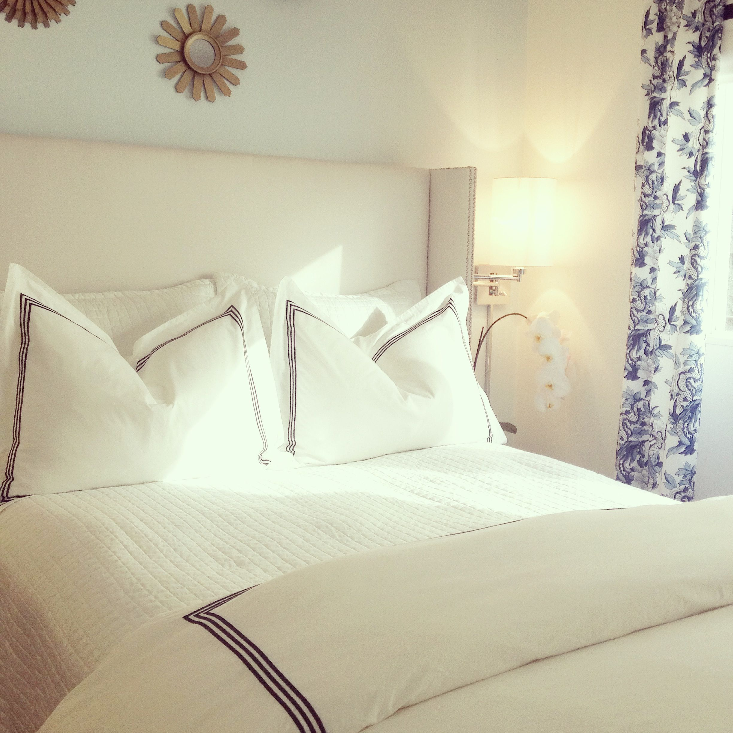 pretty small bedroom blue and white diy wing headboard apartment