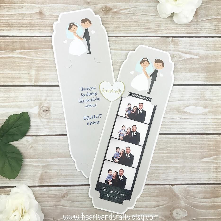 Custom frame instant picture frame holder for 2x6 photo booth strip ...