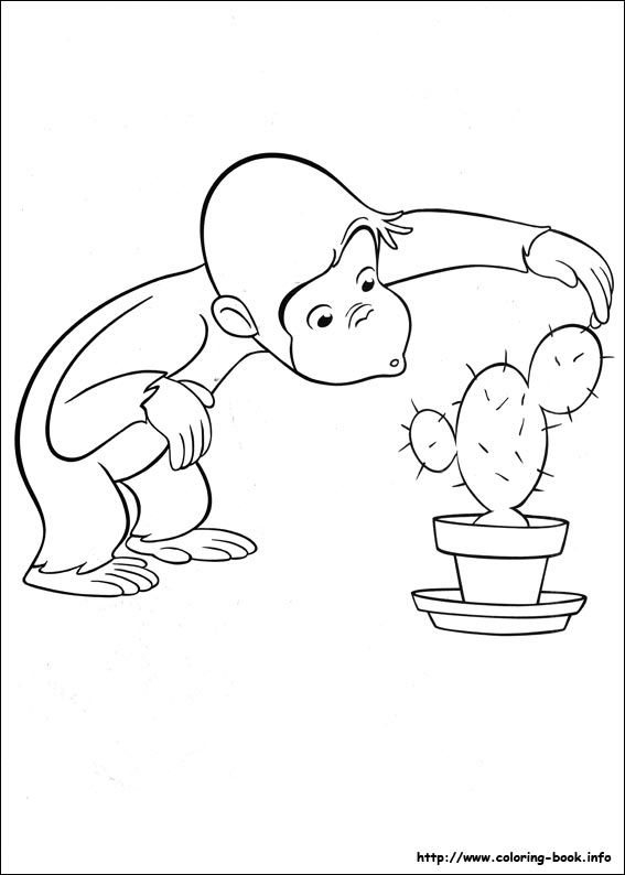 Curious George coloring picture | 3rd Birthday | Pinterest