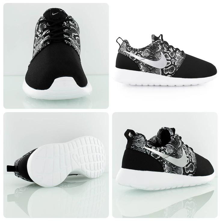 Nike Roshe One Print GS black snake