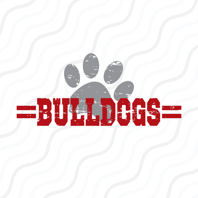 Bulldogs T-shirt Design SVG SVG Cutting File Bulldogs Mascot Svg Bulldogs Football SVG