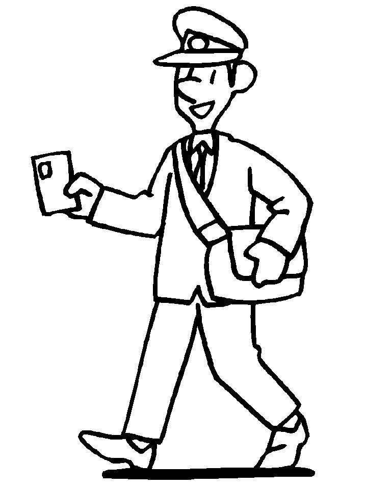 Postman 2 Coloring Page People Coloring Pages Coloring Pages For Kids Coloring Pages