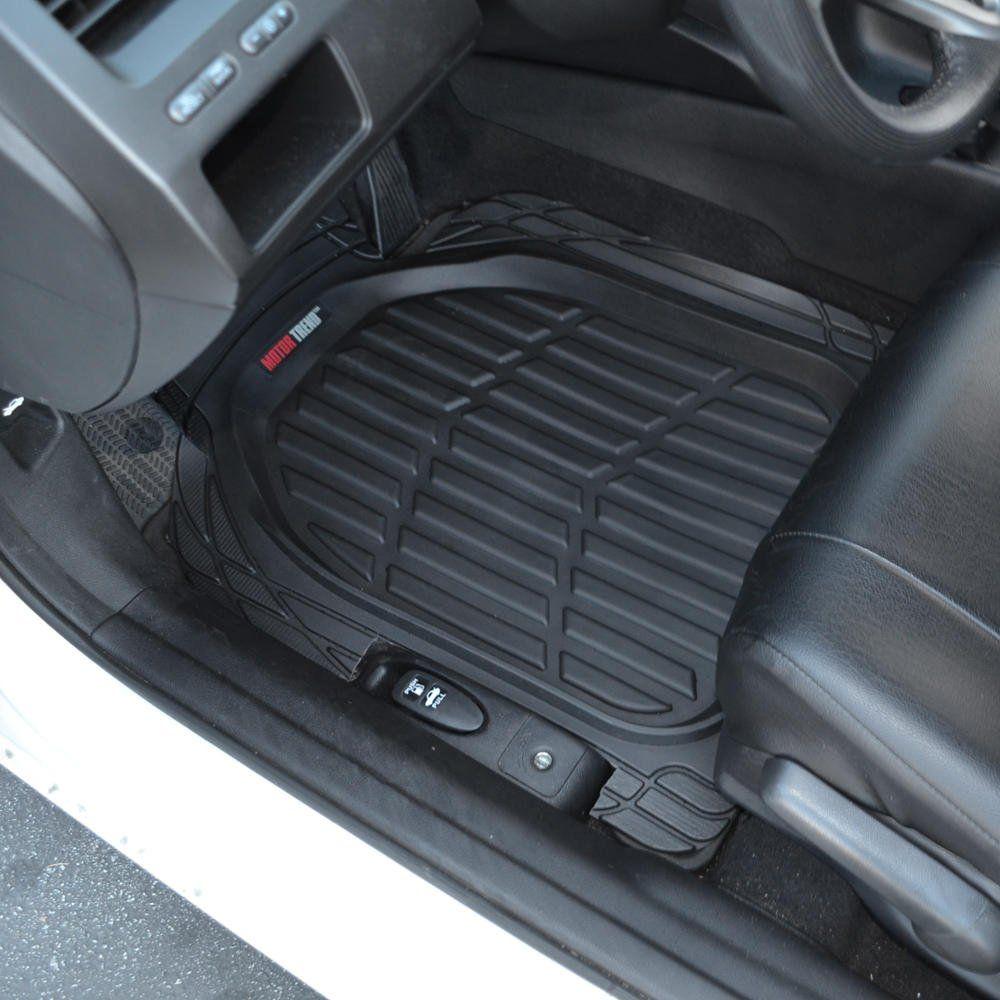 Car Cargo Trunk Liner Mat Floor Mats Universal Heavy Duty SUV Van Sedan Black