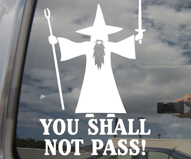 You Shall Not Pass Decal Car Truck Bumper Vinyl Sticker Window Nerd LOTR Gandalf