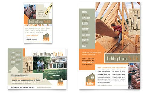 Home Building Carpentry - Flyer \ Ad Template Branding \ Print - flyer format word