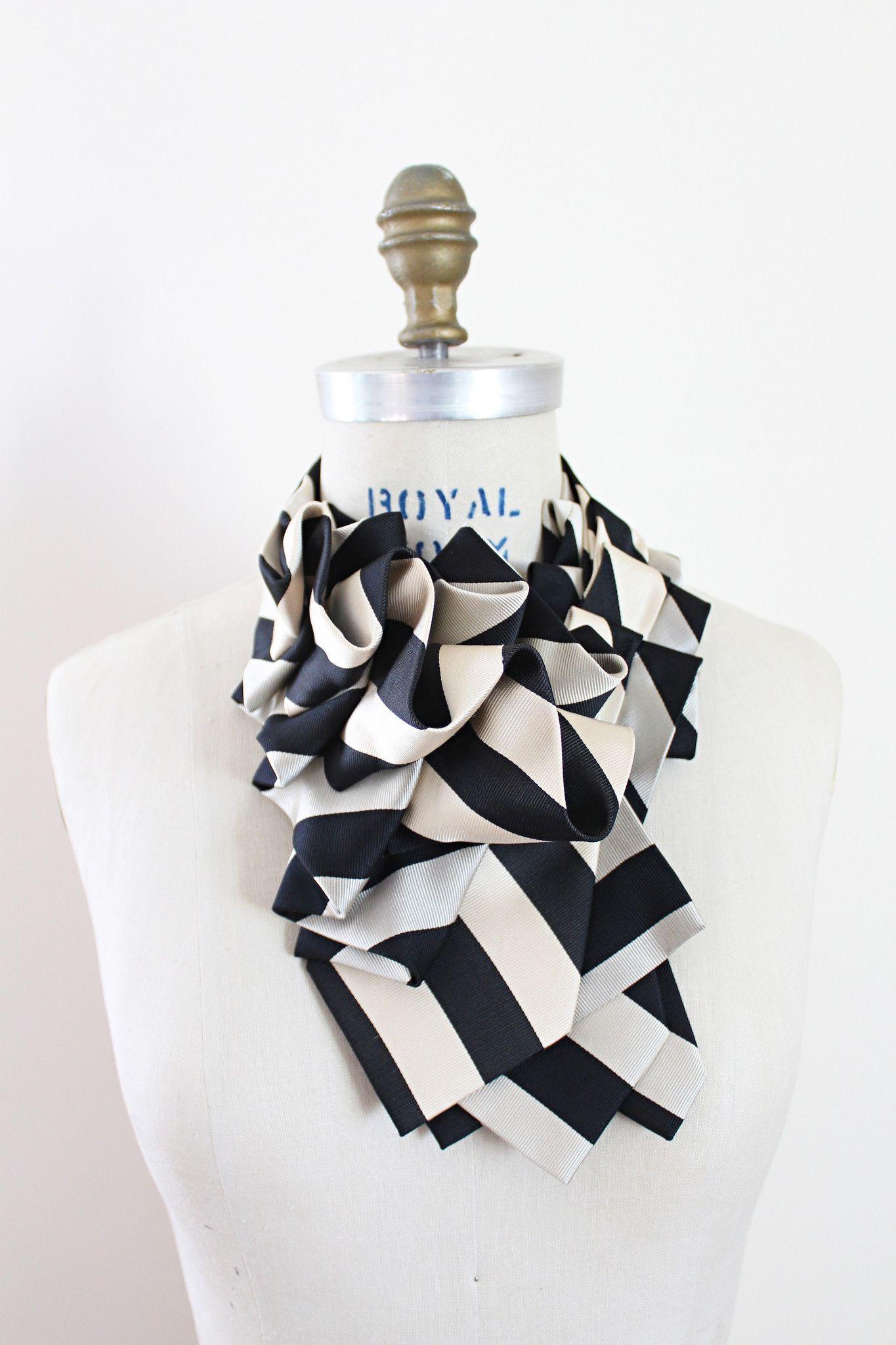 Triple Lapels - Taupe/Black Schoolyard Stripes