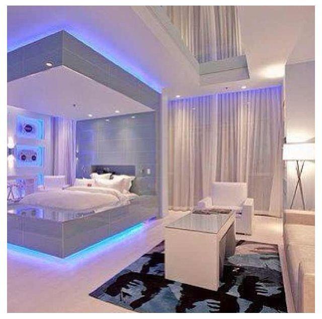 Neon Bedrooms For Teenage Girls: Room Decor, Futuristic Bedroom, Dream Rooms