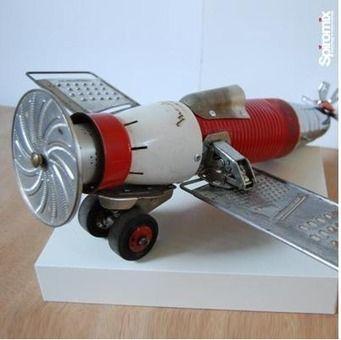Objet d co design recycl aerospatiale animaux for Objet deco animaux