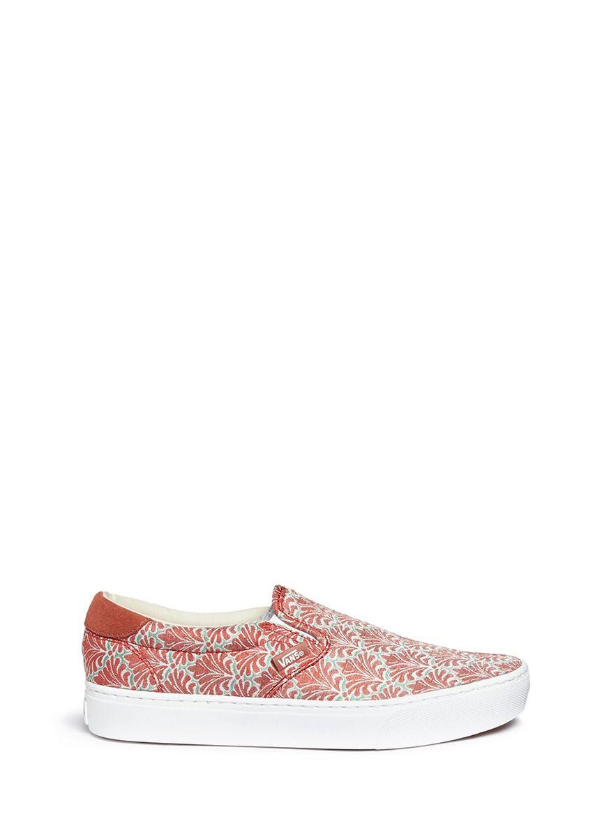 a32a331fe472d0 VANS  59 Cup Fleur De Weave  Print Slip-Ons.  vans  shoes  slip-ons ...
