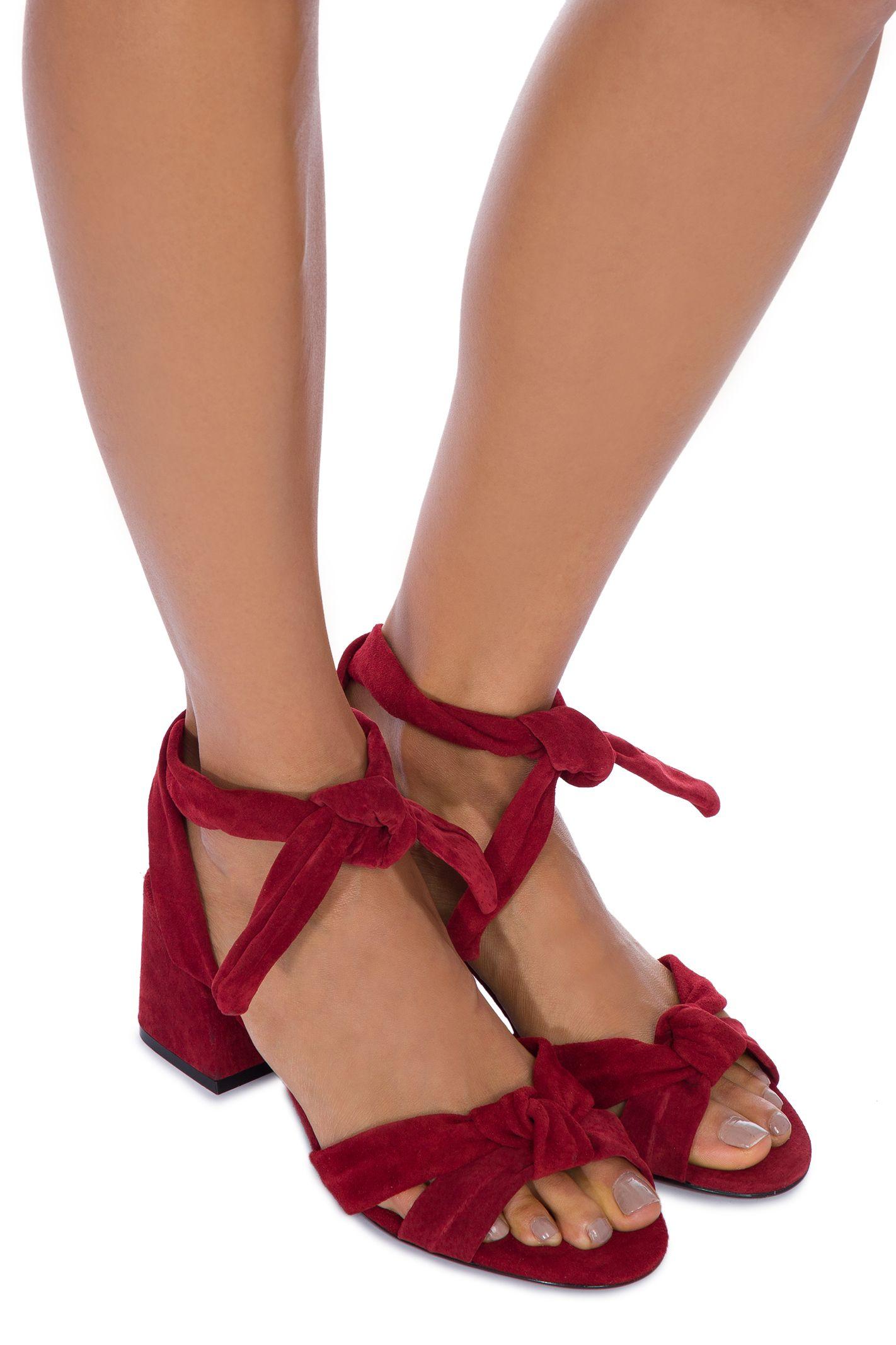d1e3d980a Sandália block heel knot schutz - Vinho em 2019